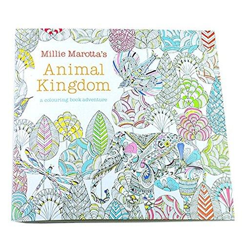 TOOGOO(R) Painting Book - TOOGOO(R)Children Adult Animal Kingdom Treasure Hunt Coloring Painting Book