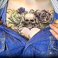 "Tatouage Temporaire ""Purple Rose Skull"" - ArtWear Tattoo - B0099 M"