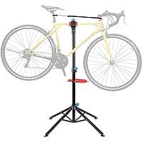 spaire Pied d'Atelier pour Vélo, Support Stand de Réparation avec Support pour Outils, Hauteur Réglable 105-170CM…