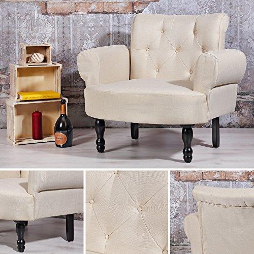 Melko Esszimmer Polstersessel Creme Barock Stil Textilsessel Sitzmöbel Design