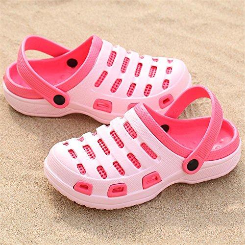 Kemosen Hommes Chaussures de Jardin Couple Ultra-Léger Sandales Femmes Plage Pantoufles Occasionnels Rose