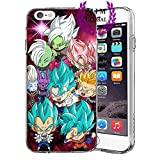 Custodie iPhone per Dragon Ball Z Super GT Case Cover - Design Ultimi Unique - Tutti i modelli iPhone - Brand New - Alta Qualita - Tournament Of Power - Goku Black Rose - Goku Blue - Gohan - Jiren - Vegeta Blue - DBS - DBZ - DBGT - Molti Disegni - MIM Global (iPhone 6/6s, Zamasu Arc)