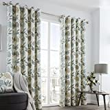 Best Leaf Curtains - Fusion - Karsten - Teal and Grey Leaves Review