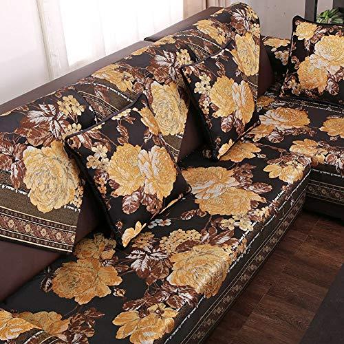 YueQiSong Sofa Schonbezug Loveseat Couch Sofa Sofas Sofas Sofas Sofas Sofas Sofakissen Sofakissen Handtuch Slip Cover Staubdicht Waschbar, für Wohnzimmer und Schlafzimmer, Schwarz, 90x120cm (35x4 -