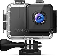 APEMAN Trawo Action Cam 4K WiFi Kamera Ultra HD 20MP Unterwasser Wasserdicht 40M Camcorder mit 170° Ultra-Weitwinkel Panasonic Sensor Eis Stabilisierung Dual 1350mAh Batterien