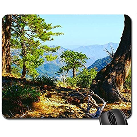 Pine Trees living on a canyon rim. Mouse Pad, Mousepad (Mountains Mouse Pad)