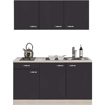 Gut bekannt Miniküche 120 cm Hochglanz Creme mit Geräten und Spüle - Vancouver FH93