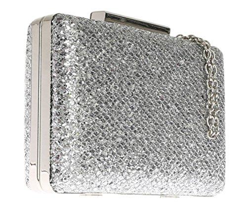 Girly Handbags, Poschette giorno donna Argento (argento)