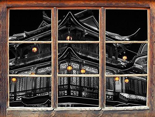 Cinese casa scatola nera / bianca formato tradizionale Wall Sticker 3D: Decorazione della parete 62x42cm 3D adesivi da parete decalcomanie - Design Inchiostro Cinese