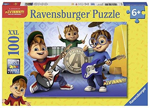 Ravensburger - Alvin et les Chipmunks Puzzle Alvin, Simon et Théodore 100 pièces XXL, 10712