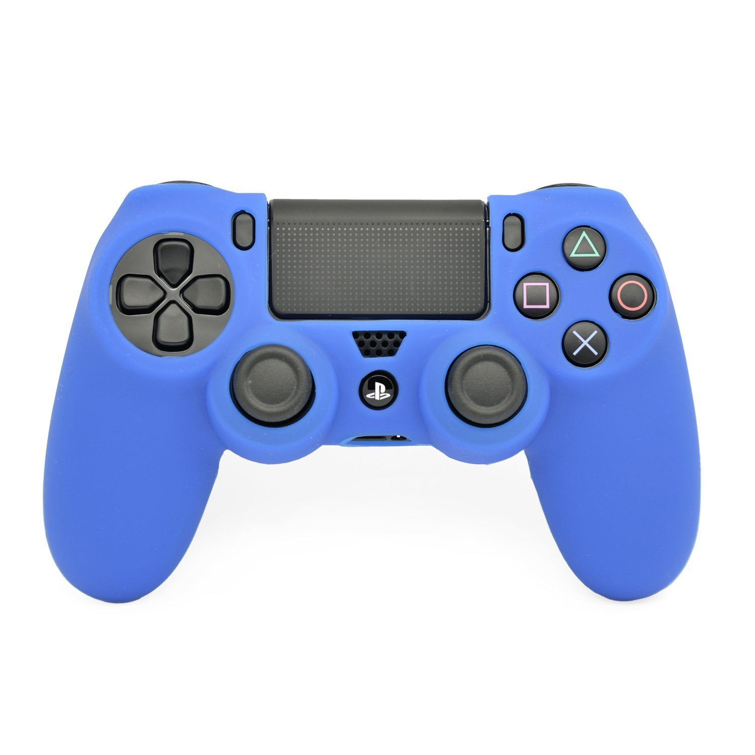 BlueBeach� Cover in silicone per Sony PlayStation 4 DualShock controller di PS4 senza pelle (Blu)