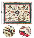 130x180cm Böhmen Kuscheldecke Wohndecke Sofadecke Tagesdecke TV Gewebte Decke mit quaste für Kinder,Erwachsene,Dekor aus 100% Baumwolle, Beige-other