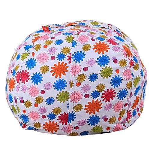 squarex Kinder Stofftier Plüsch Spielzeug Aufbewahrung Sitzsack Soft Pouch Streifen Stoff Stuhl,...