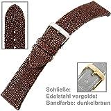 exklusives Uhrenarmband für Damenuhr Perlrochen U.-Armband Ladies 16 mm