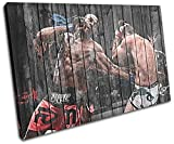 Bold Bloc Design - MMA UFC Jon Bones Jones Sports 135x90cm SINGLE Boite de tirage d'Art toile encadree photo Wall Hanging - a la main dans le UK - encadre et pret a accrocher - Canvas Art Print