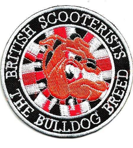 British Bulldog dell' Uomo con bandiera Union Jack   ricamo alta qualità Iron On Sew on patch ricamato distintivi per abiti giacche, cappotti cappelli borse bors