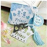 Babies Bloom Prince Crown Bookmark with Blue Tassel ( Set of 2)