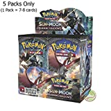 #4: Day All New Pokeemon Cards are here Pokemon Trading Card Game- 5 Packs (Random) (Sun And Moon Burning Shadows)