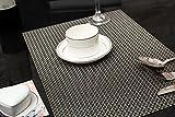 Tischset Platzset Clest F&H 4-4 Gold und grau Platzmatte gewebt aus Kunststoff 45x30 cm(2er Set)
