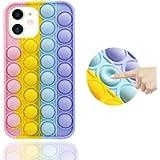 Fidget Phone Case, Pop Fidget Toys Phone Case Reliver Stress Bubble Silicone Shockproof iPhone 11 Case
