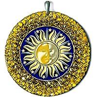 Sun-Moon Pagan ámbar amuleto hec