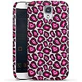 Samsung Galaxy S4 Hülle Premium Case Schutz Cover Leo Pink Animal Print