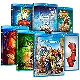 Pack Mejores Clásicos Disney (Zootrópolis + Frozen + Big Hero 6 + El Rey León + El Libro De La Selva + Peter Pan + Tarzán) [Blu-ray]