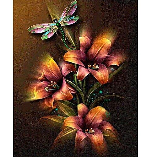 Jkhhi 5D Diamant Full Malerei Blume Sonniger Löwenzahn DIY Stickerei Painting Kreuz Stich Diamond Dekoration Strass Eingefügt Mosaiksteine -