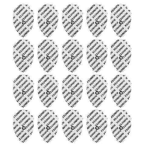 AVANTEK Set de 20 Électrodes 75 x 50mm Pads Gel de 7,5 x 5 cm pour Électrostimulateur Masseur, Appareils de Massage-santé de Neurostimulation Électrique Transcutanée (TENS), Thérapie Interférentielle (IF) et Stimulation Musculaire Électrique