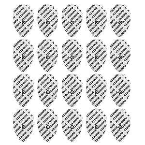 AVANTEK Elettrodi Pad - Confezione da 20 - 4.5cm x 7.6cm - Attacco Universale per Elettrostimolatori TENS/EMS con Bottone da 3.5mm
