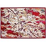 Alfombra Salón Moderno – alfombra rojo con dibujo abstracto colección Sitap Venus 423 x -q16