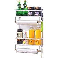 XIAPIA Etagère Réfrigérateur-Supports pour Papier Essuie-Tout Distributeur Pimenter Magnétique avec Porte Peeler…