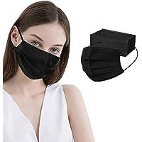 50 Stück Fashion Unisex Wiederverwendbare und waschbare schwarz KZZ1000