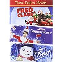 Three Festive Movies - Fred Claus [2007]/ National Lampoons Christmas Vacation [1989]/ Jack Frost