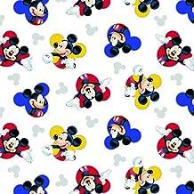 Mickey Mouse tela–SC128Mickey Mouse cabezales blanco–Disney tela, tela de cómic–0,5m múltiplos–100% algodón