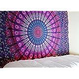 raajsee-indian de perro hecho a mano multicolor redondo Chakra Mandala Tapestry Barhmeri algodón Imprimir Colgante de pared playa manta dormitorio divisor Hippy estilo bohemio # BS91
