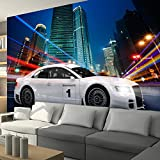 murando - Fototapete 250x175 cm - Vlies Tapete - Moderne Wanddeko - Design Tapete - Wandtapete - Wand Dekoration Auto Motorsports Stadt Nacht i-A-0098-a-a