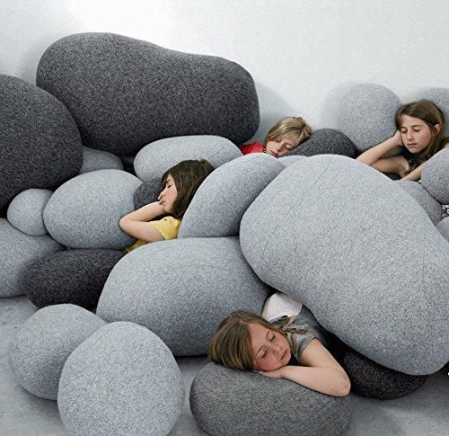 Vercart (TM) - Plüsch Kissen auf dem Boden Stein kissen Kinderspielzeug 8