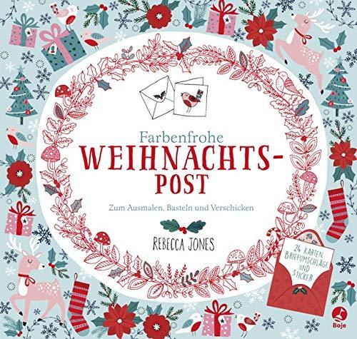 """Ausmal-Adventskalender """"Farbenfrohe Weihnachtspost"""""""
