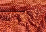 Hotex Albstoffe/Jacquard-Jersey/Botanical Wave Knit / 135 cm rost/Hamburger Liebe