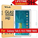 AnoKe Samsung GALAXY Tab S 10.5 T800 T805 Tempered Glass Screen Protectors 9h Hardness 0.3mm Thickness For T800