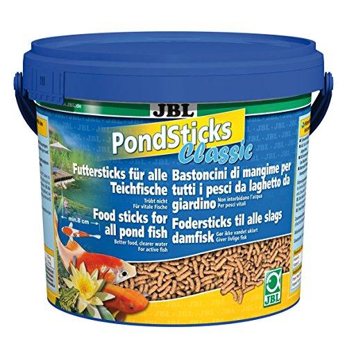 JBL PondSticks Classic 41002, Alleinfutter für alle Teichfische, Futtersticks, 1er Pack (1 x 5,5 l)