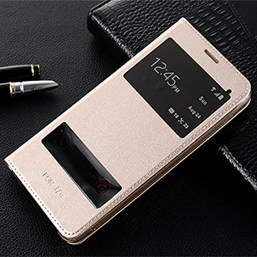 ELICA LEATHER GOLD Premium Quality WALLET Flip Cover for Samsung Galaxy A9 Pro GOLD