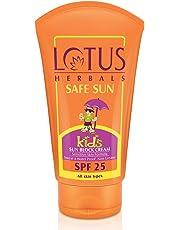 Lotus Herbals Safe Sun Kids Sun Block Cream SPF 25, 100g