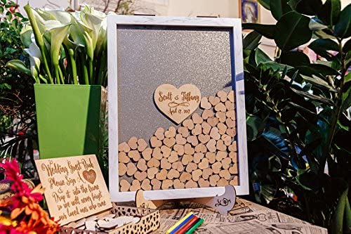 Guestbook libro degli ospiti per matrimonio libro degli ospiti wedding alternative wedding ospiti Mason Jar telaio bianco Drop top Drop box matrimonio libro 49c6ec