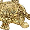 ShalinIndia Indischen Dekor Hindu Mythologie Messing Figur mit Mantras Messing 15,2x 10,2cm von ShalinCraft - Du und dein Garten