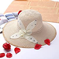 Romote Summer Lady Casual Straw Mujeres Sombreros de Flores Big Wide Brim Beach Hat