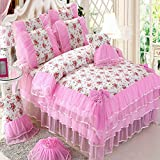 LY&HYL Home Decorations Cotton lace Wedding Gifts Bed Linen Bedclothes 4Pcs Queen King , 1 , king