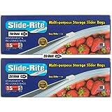 [Sponsored]Amit Marketing Slide-Rite Multi-Purpose Storage Slider Bag, 30 Piece, 250 Ml, Clear, Set Of 2