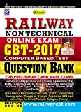 Kiran?s Railway Non-Technical Online Exam CBT - 2017 Question Bank - 1814 (Old Edition)